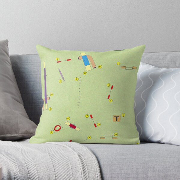 Agility Excellent Standard Throw Pillow