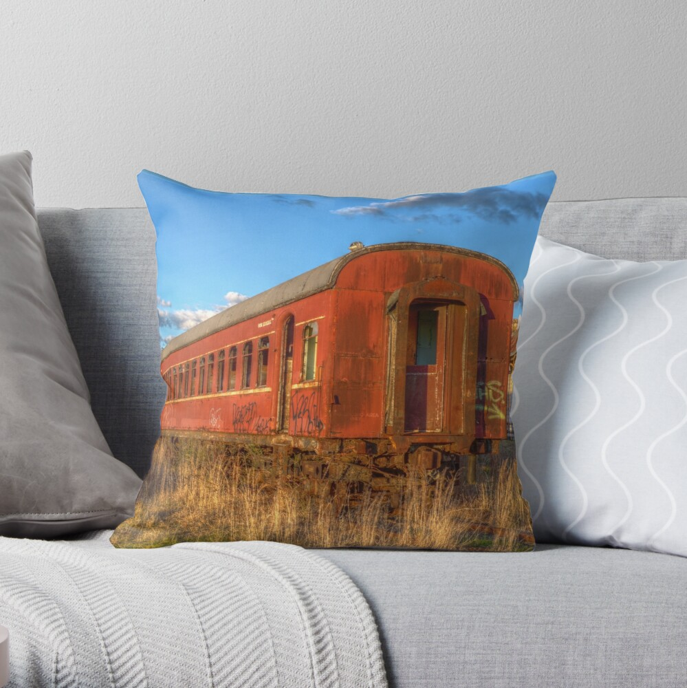 Off the rails Throw Pillow