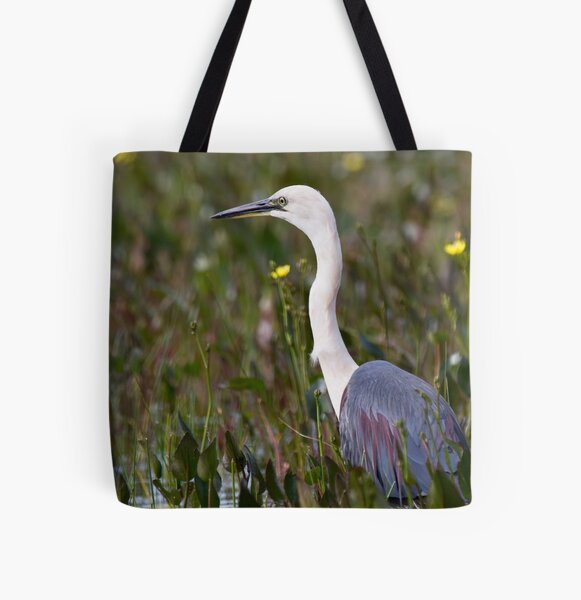 White-necked Heron All Over Print Tote Bag