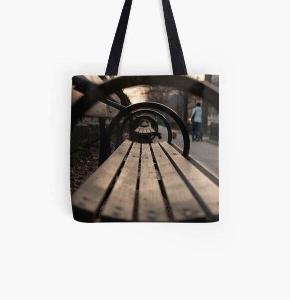 Park Bench All Over Print Tote Bag