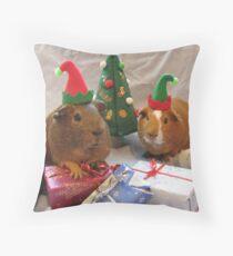 Santa's Little Helpers Throw Pillow