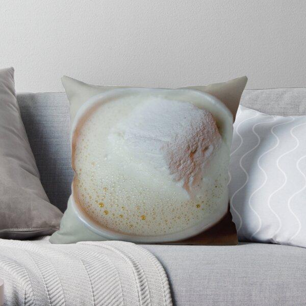 White Hot Chocolate Throw Pillow