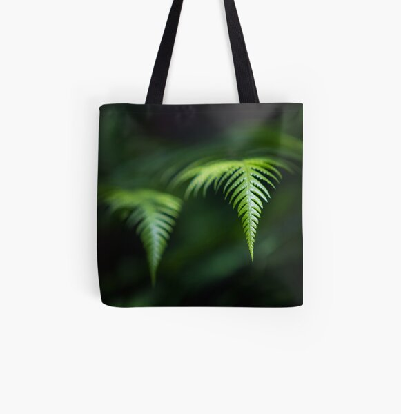 Fern in Dappled Sunlight All Over Print Tote Bag