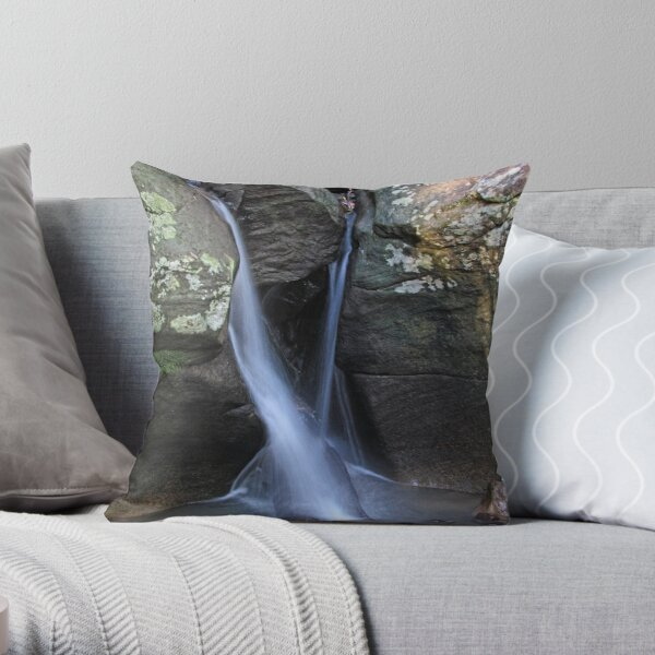 Rainforest Waterfall Throw Pillow