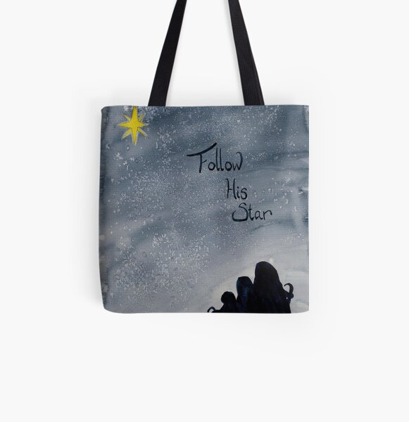 Follow His Star All Over Print Tote Bag