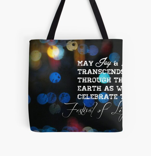 Festival Lights All Over Print Tote Bag