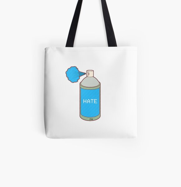 Hate Spray All Over Print Tote Bag