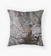 Tawny Frogmouth Nesting Throw Pillow