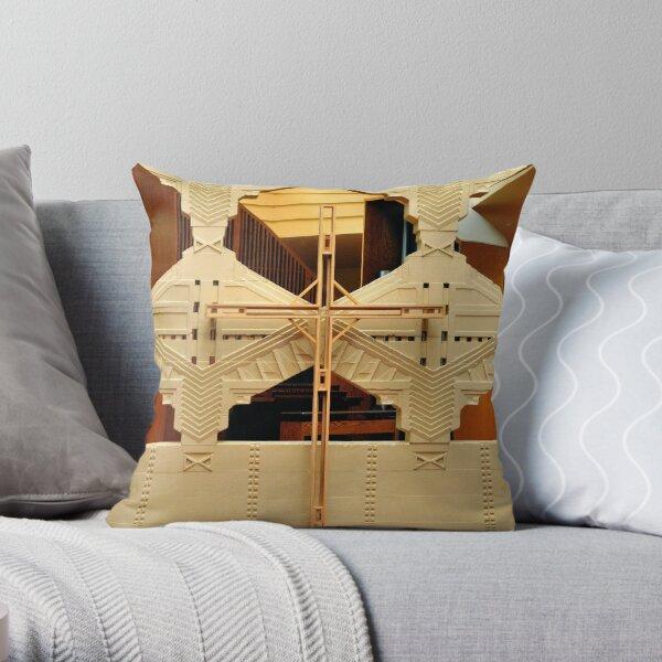 Cross, Frank Lloyd Wright Designed Chapel, Florida Southern College, Lakeland, Florida Throw Pillow