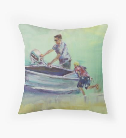 going fishing Throw Pillow