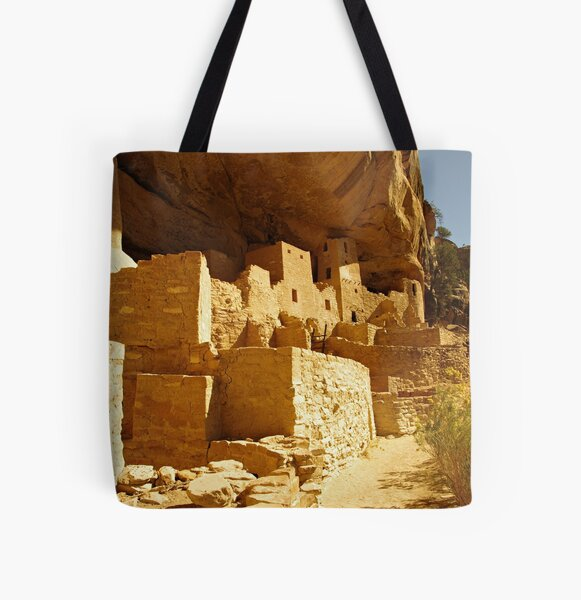 Cliff Palace, Mesa Verde All Over Print Tote Bag