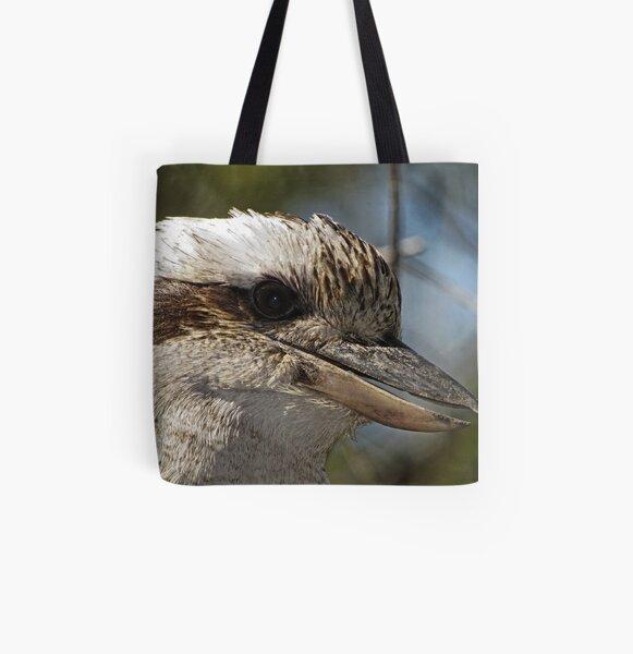 Kookaburra Portrait All Over Print Tote Bag