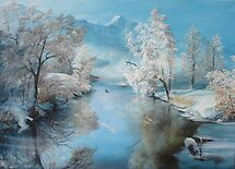 Quiet Ice, A perfect winter day   by Sorin Apostolescu