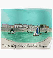 Robinsons Royal Hotel, Blackpool 1855 Poster