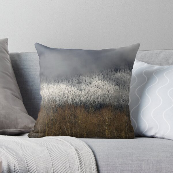 Frosted in the Valley Throw Pillow