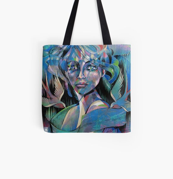 'Angela 2' All Over Print Tote Bag