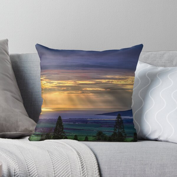Maui Sunset  - 12/3/12 Throw Pillow