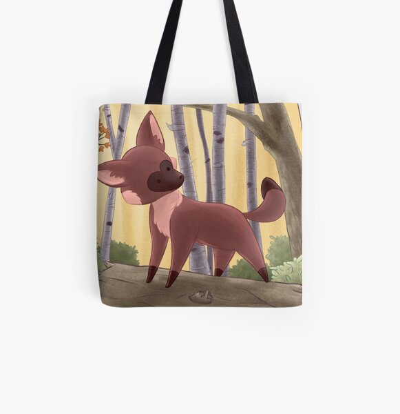 Fox's Forest All Over Print Tote Bag