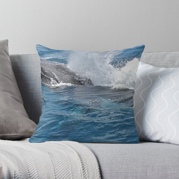 Thar she blows Throw Pillow