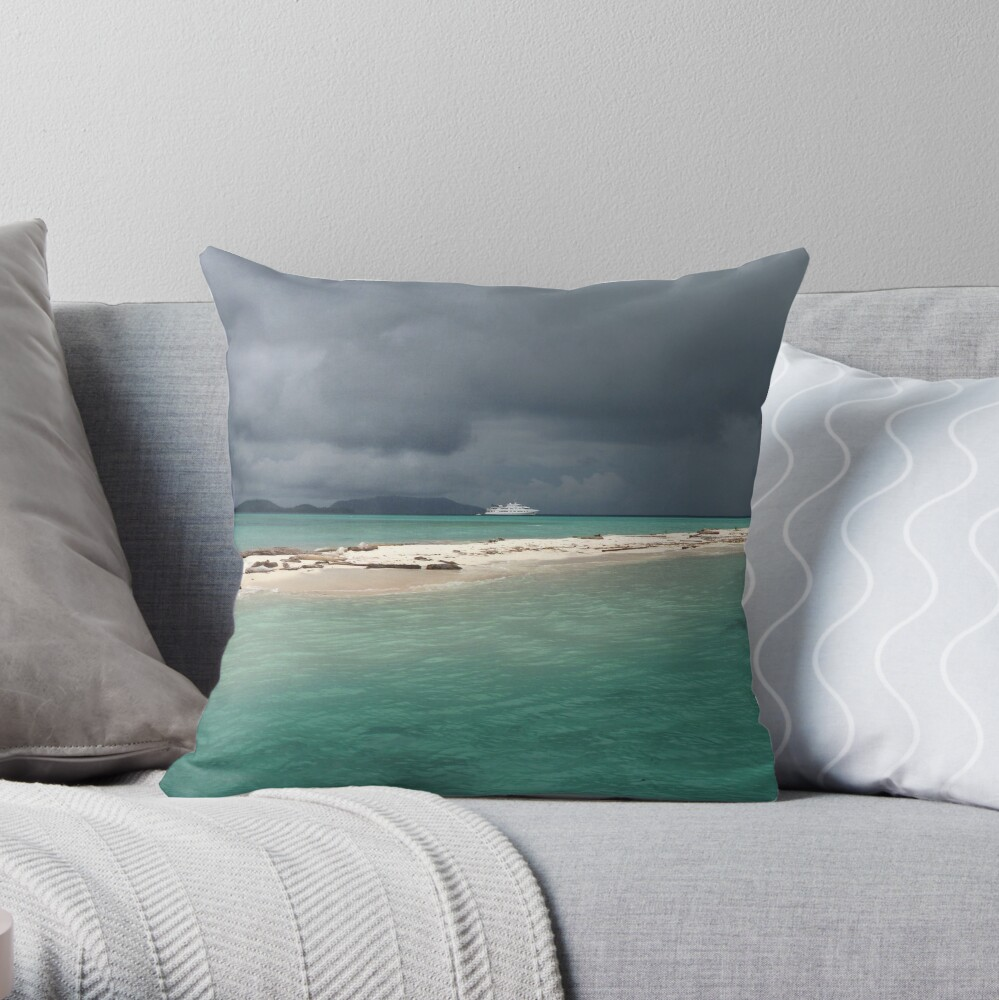 Squall at Hermit Atoll II Throw Pillow