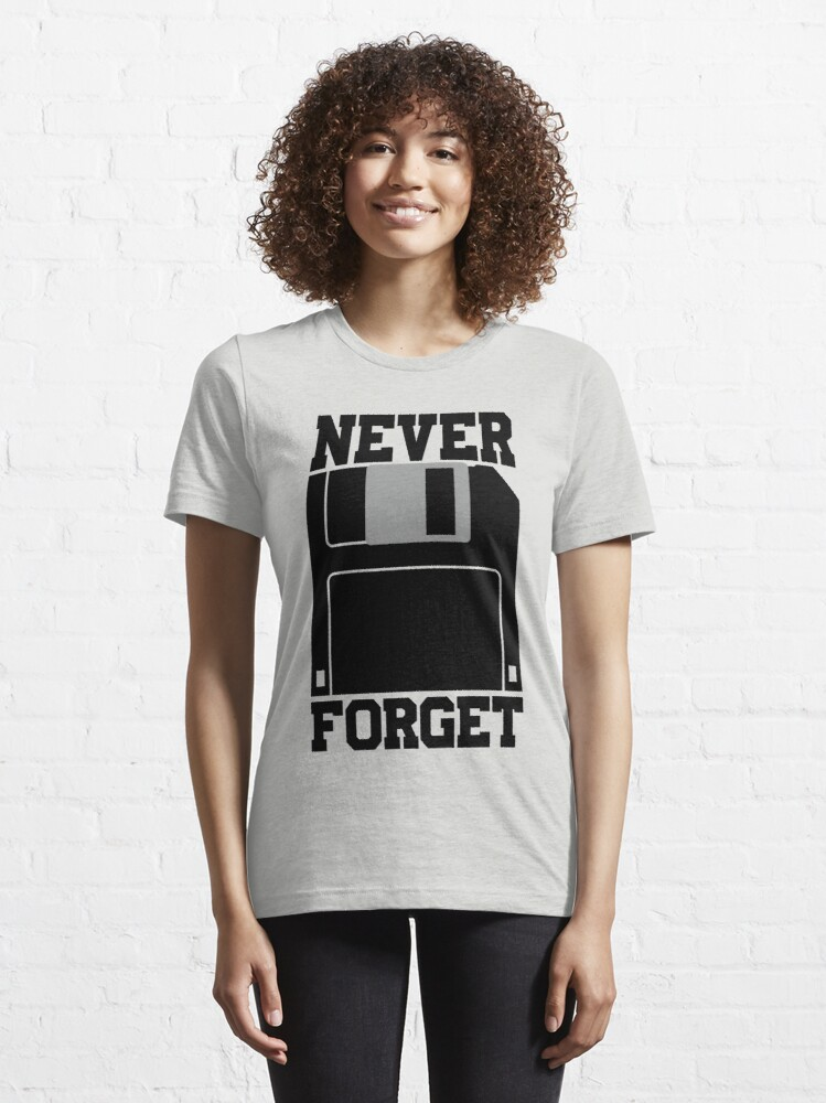 Alternate view of Floppy Disk - Never Forget Essential T-Shirt