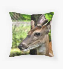 Velvet Antlers-2 Throw Pillow