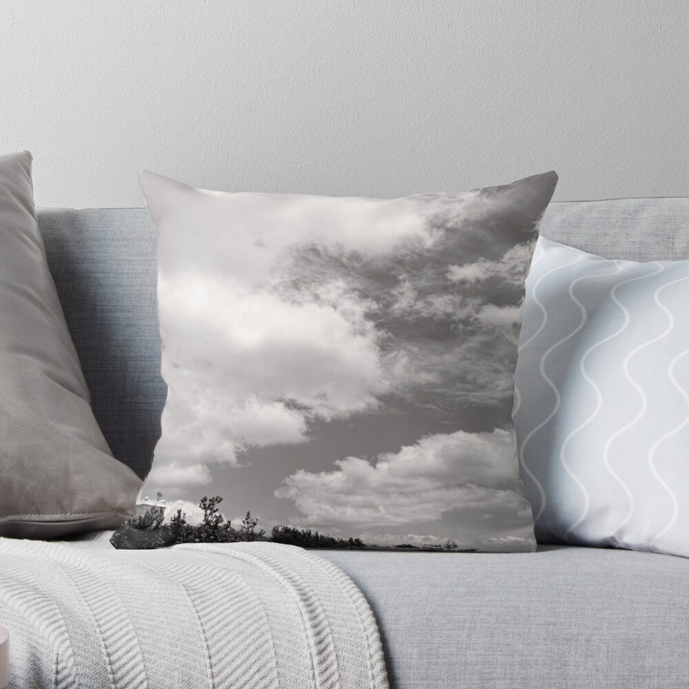 Lighthouse in the Clouds - NSW - Australia Throw Pillow