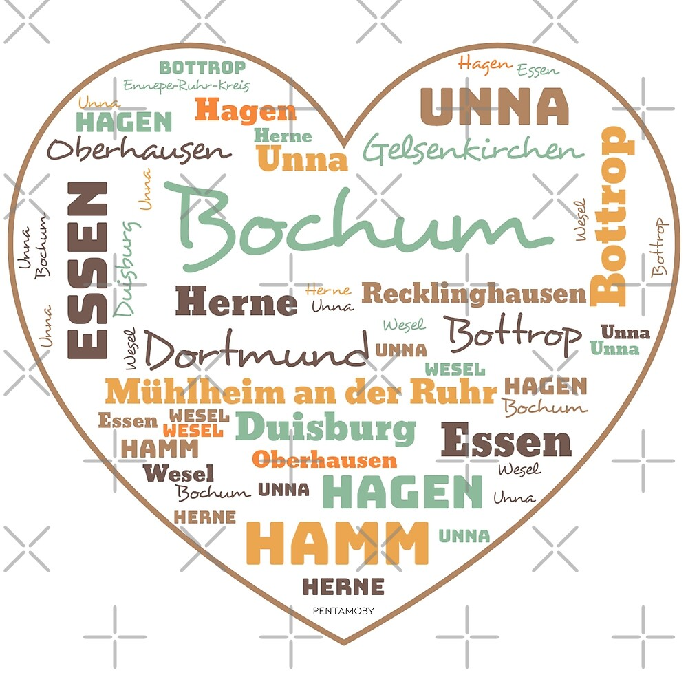 RUHRPOTT LOVE HEART (colored) by Pentamoby