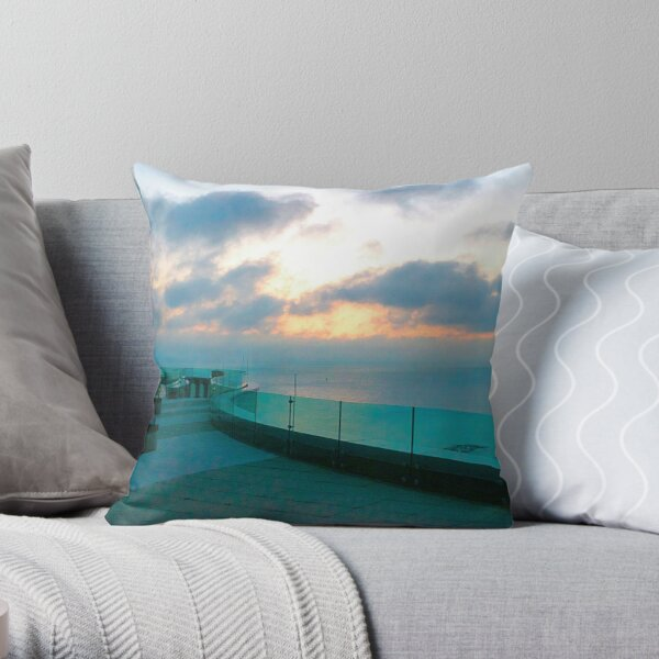 Sunrise at the Revel Resort Atlantic City Throw Pillow