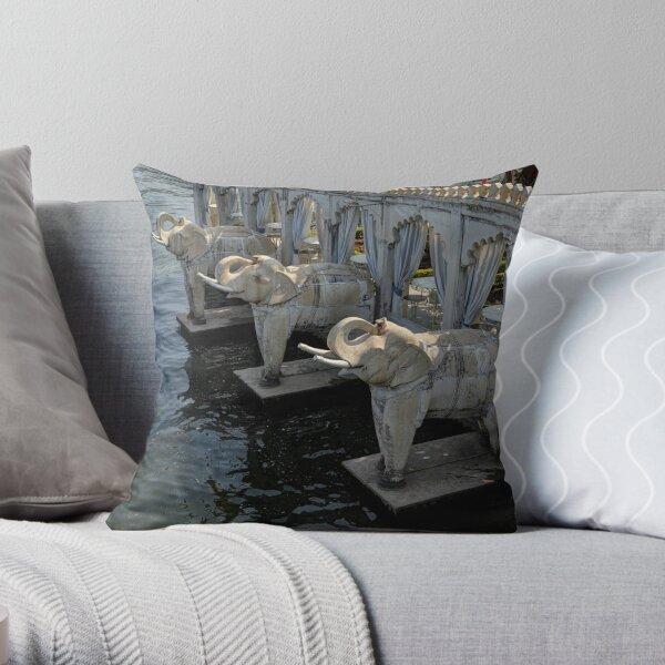 Marble Elephants Throw Pillow