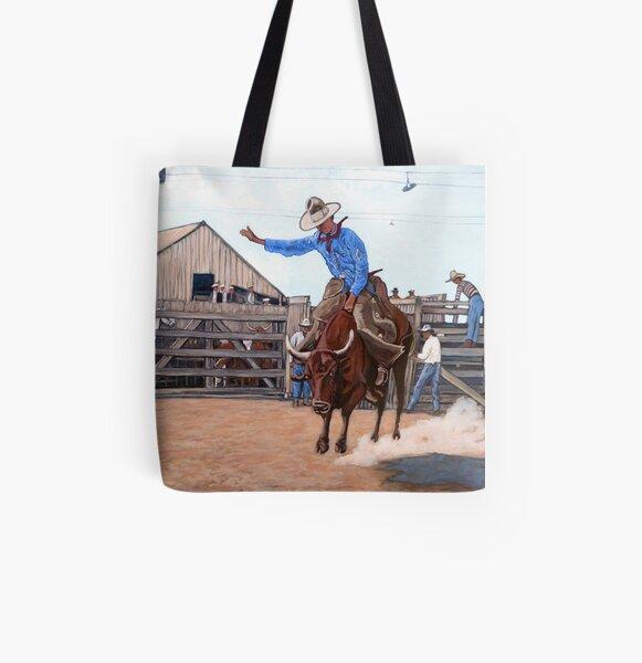 Ride 'em Cowboy All Over Print Tote Bag