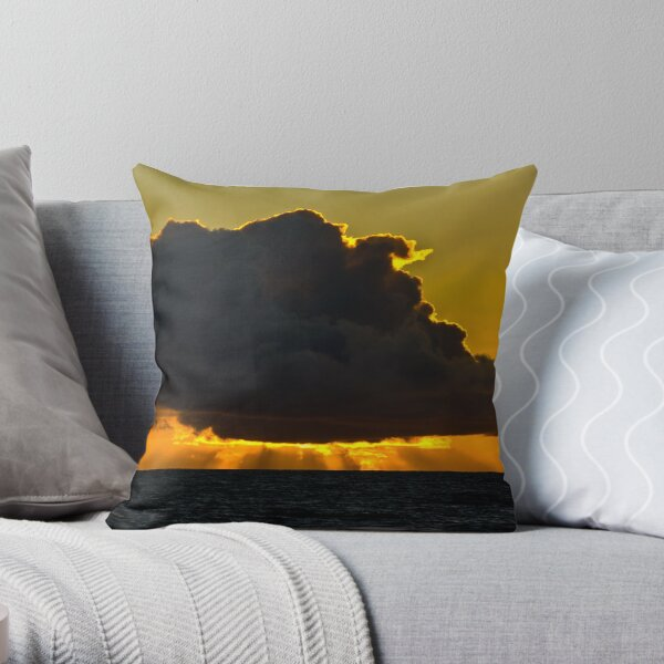 Sunset at Squeaky Beach, Wilsons Prom Throw Pillow