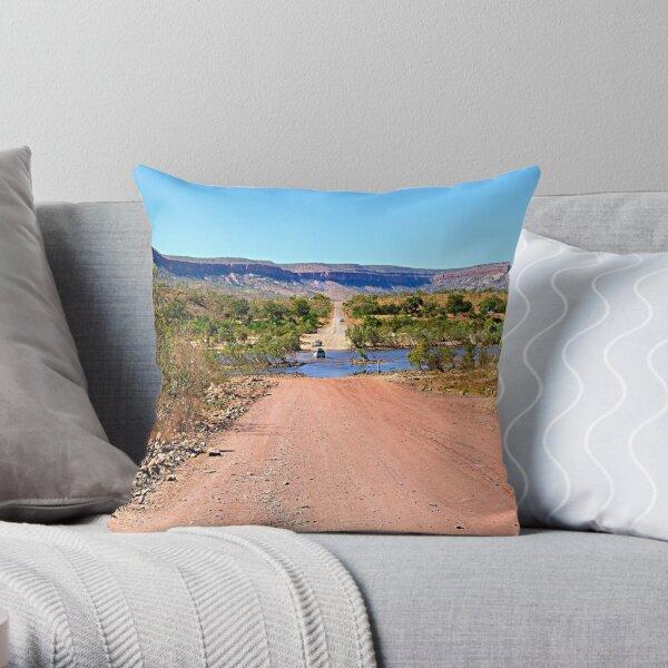 Pentecost river crossing, Gibb river road Throw Pillow