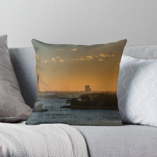 Sunset over Balmain Throw Pillow