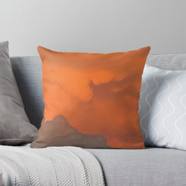 Staring into the heart Throw Pillow