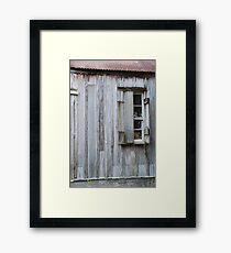Cajun Window Framed Print