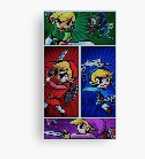 Four Swords Pixel Art Canvas Print