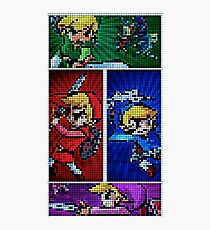 Four Swords Pixel Art Photographic Print