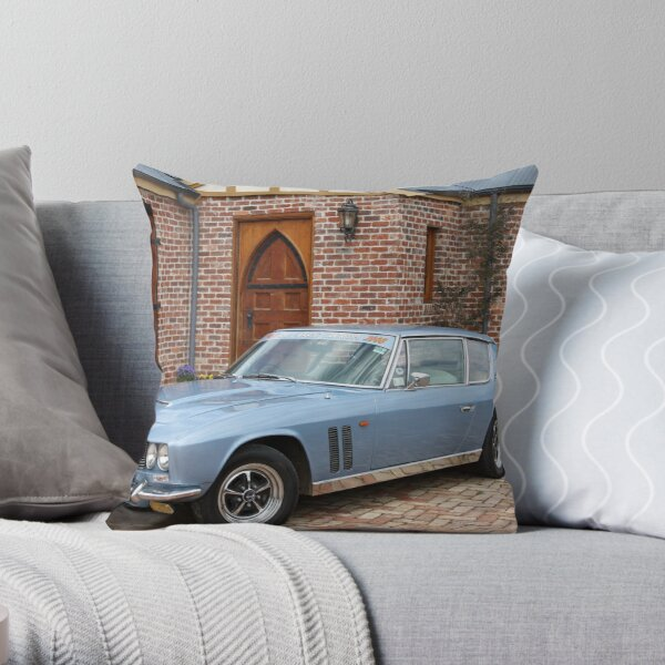 1969 Jensen FF - All Wheel Drive Throw Pillow