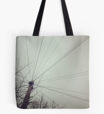 Telegraph wires Tote Bag