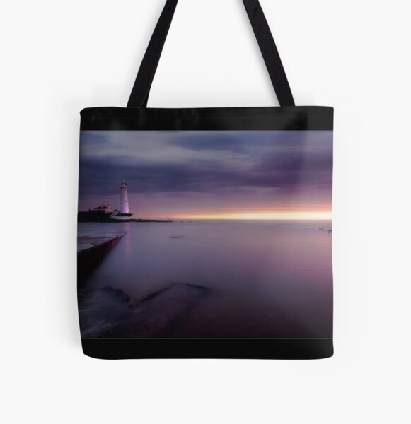 St Mary's Lighthouse All Over Print Tote Bag