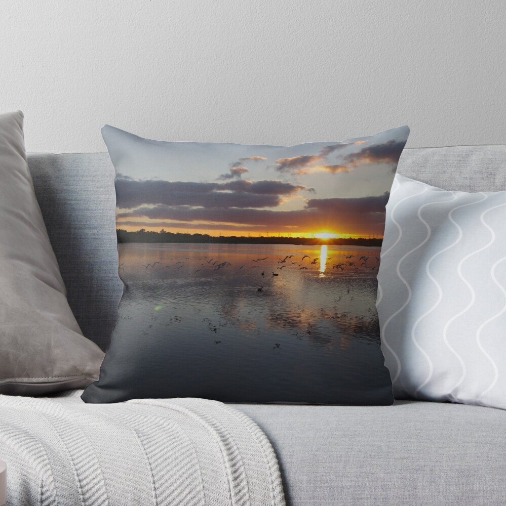 Bibra Lake Sunrise Throw Pillow