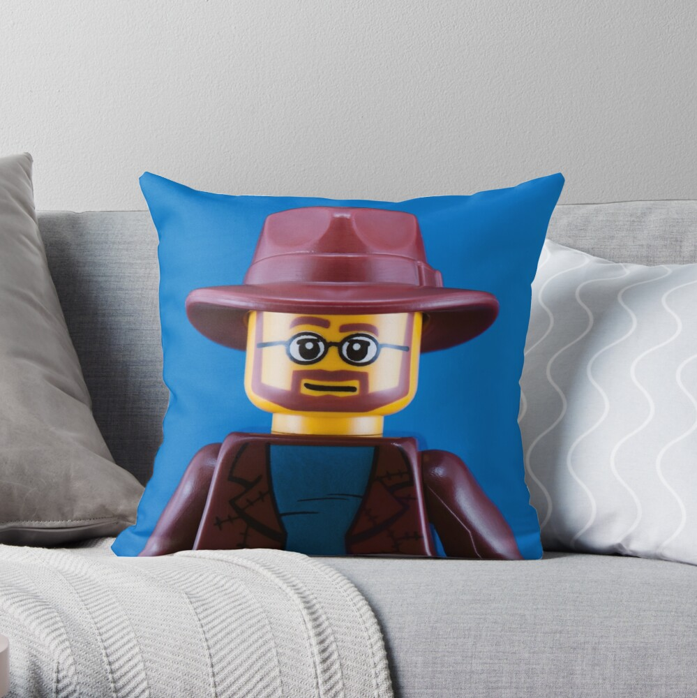 Adam Savage Portrait Throw Pillow