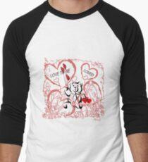Love To Be Loved Teddy Bear Men's Baseball ¾ T-Shirt