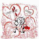 Love To Be Loved Teddy Bear by Michelle Scott
