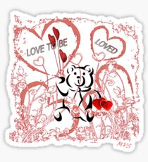 Love To Be Loved Teddy Bear Sticker