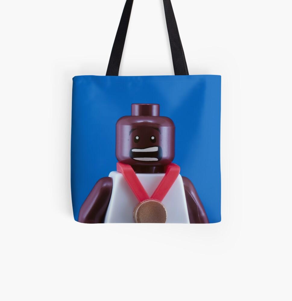 Mo Farah Portrait All Over Print Tote Bag