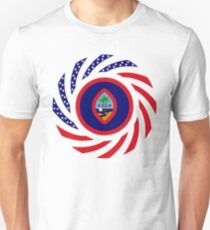 Guamanian American Multinational Patriot Flag Series Unisex T-Shirt