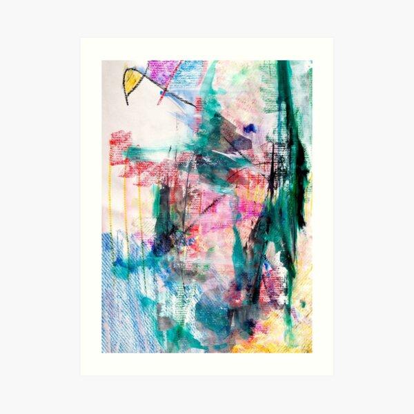 Windsurfing through Green Storms Art Print
