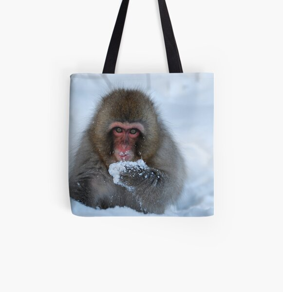 Snowy monkey  All Over Print Tote Bag